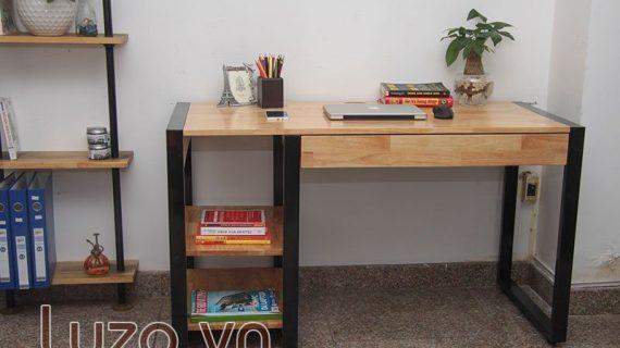Các mẫu bàn làm việc gỗ ghép thanh đẹp
