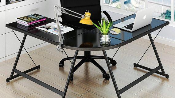 Mẫu bàn làm việc gỗ chữ L đẹp tiện lợi