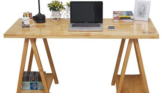 Các mẫu bàn làm việc gỗ tự nhiên tại TP. HCM