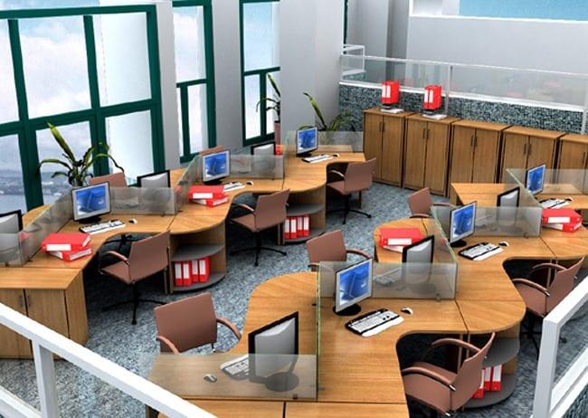Các mẫu bàn làm việc văn phòng đẹp hiện đại tại TP HCM