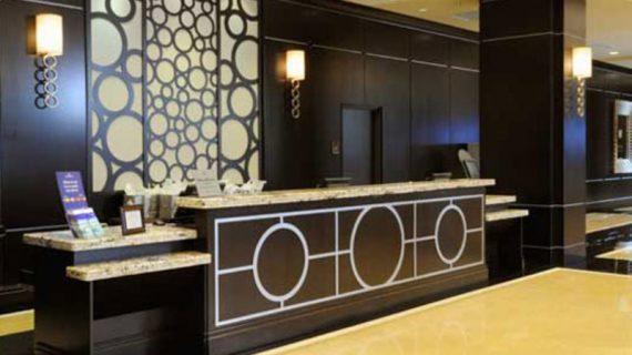 Thiết kế thi công trang trí quầy lễ tân khách sạn đẹp