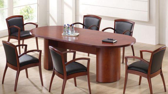 Các mẫu bàn ghế phòng họp gỗ veneer giá rẻ tại TP HCM