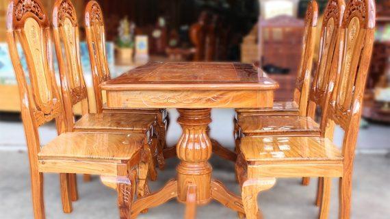 Những bộ bàn ghế gỗ tự nhiên đẹp, bền, giá tận gốc từ xưởng
