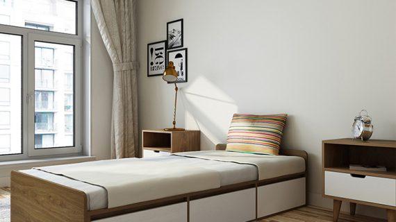 Các mẫu giường gỗ 80cm đẹp giá rẻ được bảo hành 12 tháng
