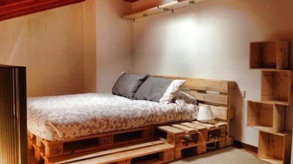 Các mẫu giường gỗ pallet đẹp giá rẻ được bảo hành 12 tháng