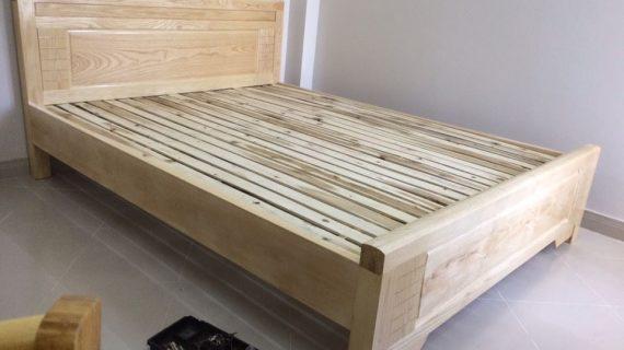 Các mẫu giường ngủ gỗ 1m6 đẹp giá rẻ được bảo hành 12 tháng