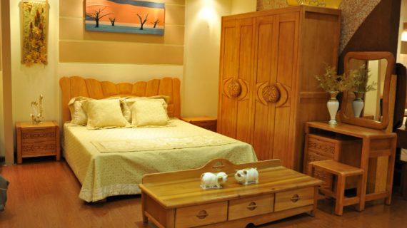 Các mẫu giường ngủ gỗ 1m8 đẹp giá rẻ được bảo hành 12 tháng