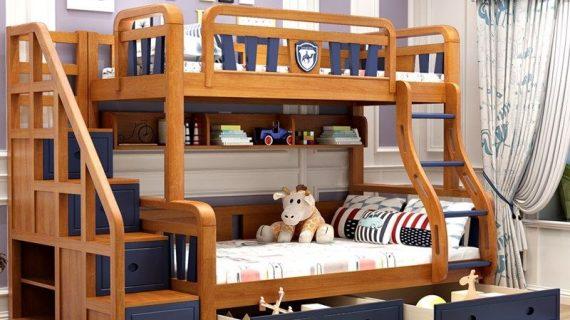 Giường 2 tầng đẹp giá rẻ cho người lớn và trẻ em
