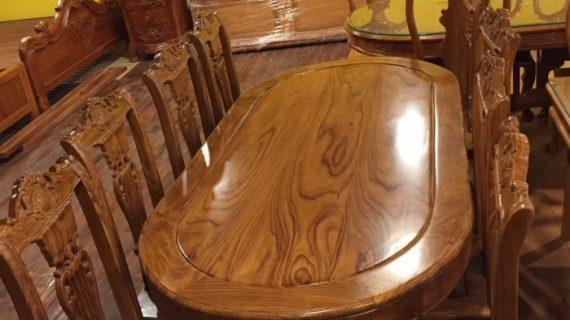 Các mẫu bộ bàn ăn gỗ hương đẹp giá rẻ, giao hàng tận nơi