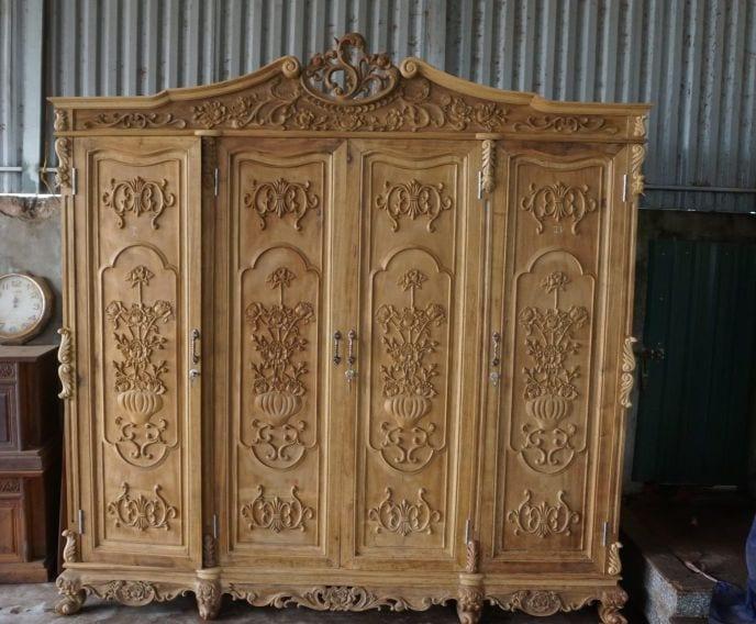 tủ quần áo gỗ gụ có độ bền lên tới vài chục năm