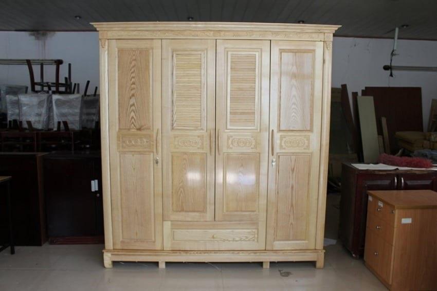 sản phẩm tủ quần áo gỗ sồi có giá thành rẻ