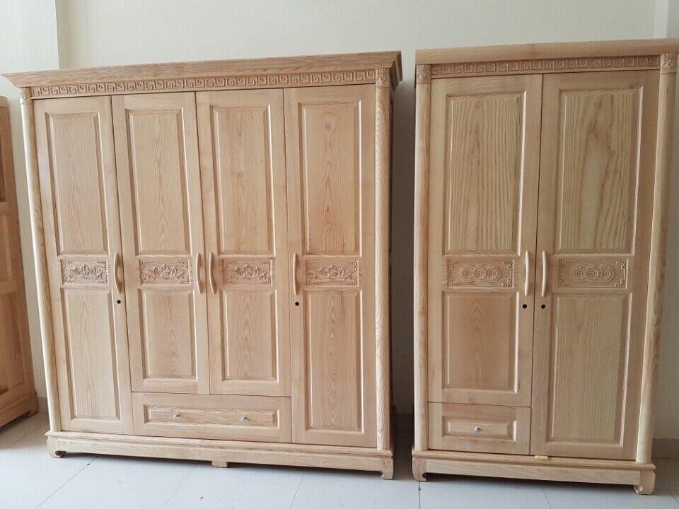 mẫu thiết kế tủ quần áo gỗ sồi thình hành nhất