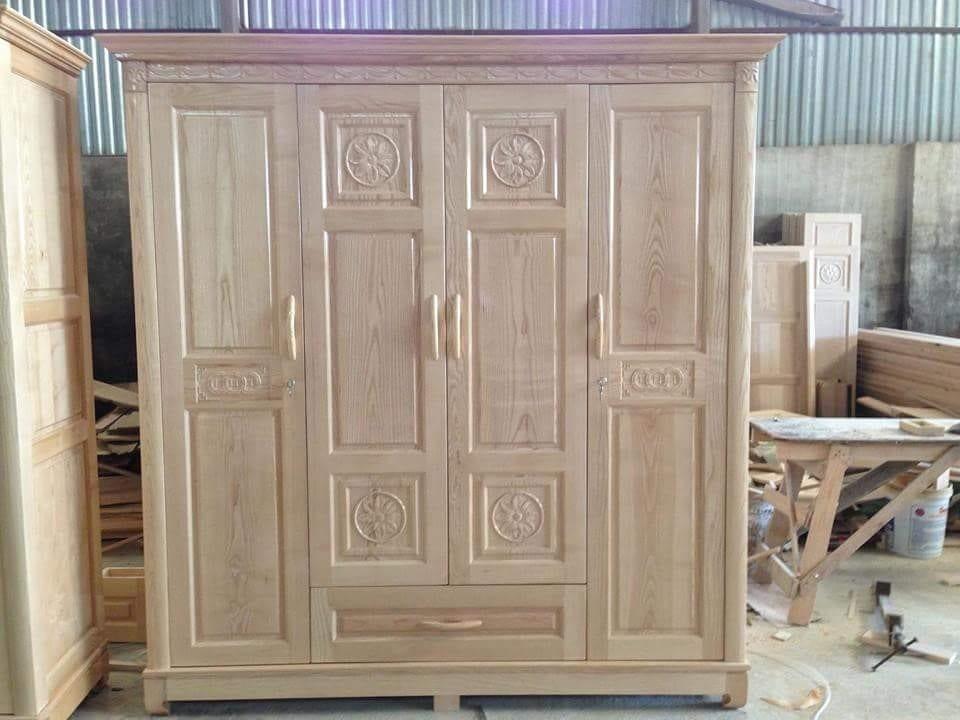 tủ quần áo gỗ sồi được thiết kế cẩn thận kỹ lưỡng