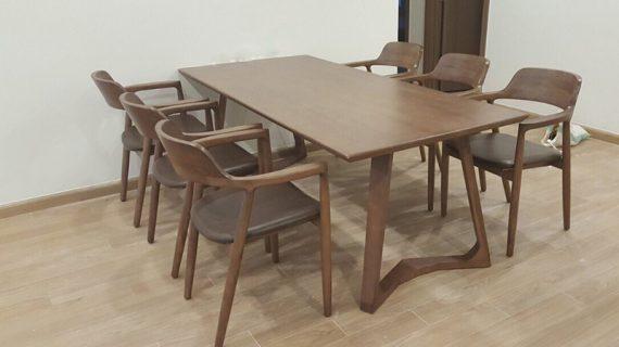 Kích thước bộ bàn ghế ăn tiêu chuẩn cơ bản cho gia đình 4-10 người