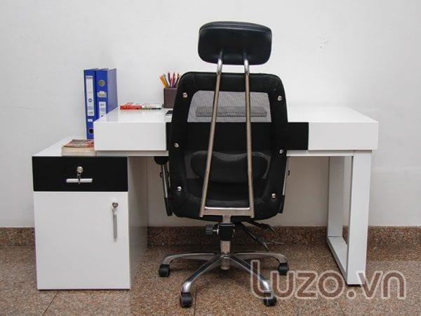 Bộ bàn ghế văn phòng đơn kết hợp với tủ chứa